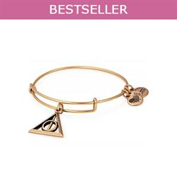 Harry Potter Deathly Hallows Bangle in Rafaelian Gold