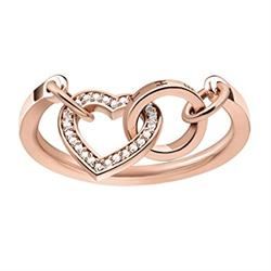 Together Forever Heart Ring Rose-Gold Plated Size 54