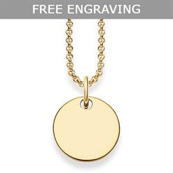 Glam & Soul Engravable Gold Disc Necklace