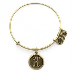 Alex and Ani K Initial Bangle in Rafaelian Gold Outlet