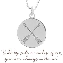 Friendship Arrow Necklace in Silver