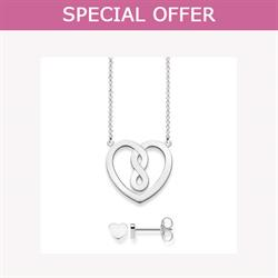 Sterling Silver Valentine's Heart Set