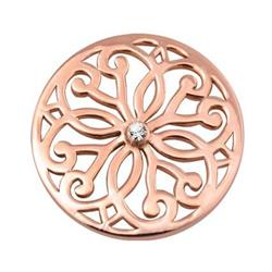 Rose Gold Baroque Fantasy Coin 33mm