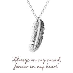 Love Feather Necklace in Silver