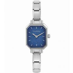 Stainless Steel Blue Glitter Dial Watch