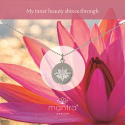 Lotus Inner Beauty Necklace in Silver