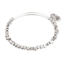 Star Beaded Bangle in Rafaelian Silver