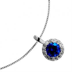 Royal Blue Crystal Necklace
