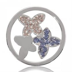 As Pure As A Butterfly Can Be Silver Coin 33mm