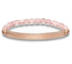 Rose Quartz Love Bridge Bracelet Small 15.5cm