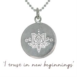 Mantra Jewellery Lotus New Beginnings Necklace in Silver