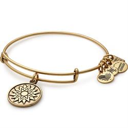 Buy Alex and Ani New Beginnings Bangle in Rafaelian Gold