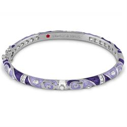 Lavender Marble and Silver Fiesta Bangle