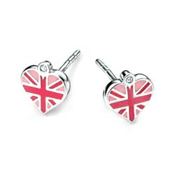 Union Jack Heart Children's Studs