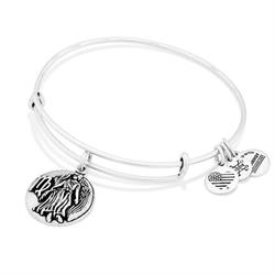 Virgo Disc Bangle in Rafaelian Silver Finish