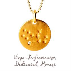 Mantra Virgo Star Map in Gold