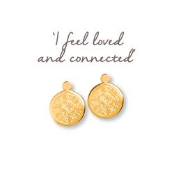 Love Mandala Gold Drop Earrings