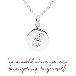 Q Mantra Initial Necklace