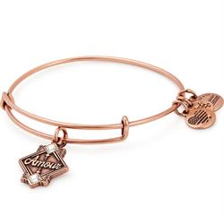 Amour Crystal Bangle in Rafaelian Rose Gold