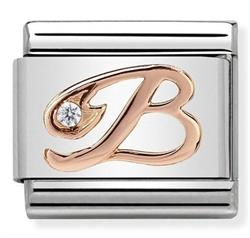 Buy Nomination Rose Gold CZ Letter B