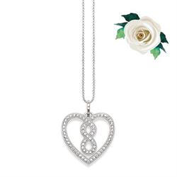 GLAM&SOUL Infinity Heart Necklace CZ in Silver