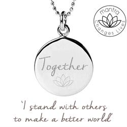 Together Think Equal, Charity Necklace in Sterling Silver