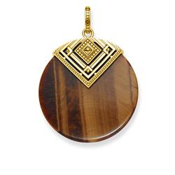 Gold Triangle Tiger's Eye Pendant