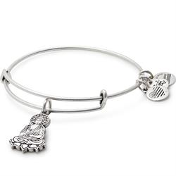 Buddha Bangle in Rafaelian Silver