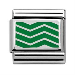 Green Chevron Charm