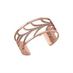 Buy Les Georgettes Medium Rose Gold CZ Courbe Cuff