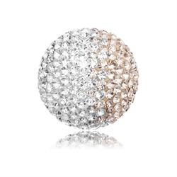 Rose and White Crystal Sound Ball Small