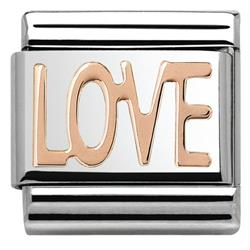 Rose Gold Love Plate Charm