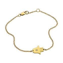 Jennifer Zeuner Faith Hamsa Hand Bracelet in Gold