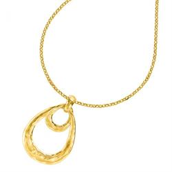 18ct Gold Linked Double Oval Pendant