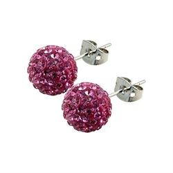 Pink Studs 10mm by Tresor Paris