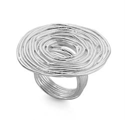 Buy JORGE REVILLA Silver Espiral Ring -M