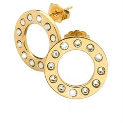 Gold Sparkle Circle Studs