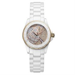 Sloane Showpiece White & Rose Gold Watch