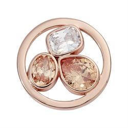 Rose Gold Simplicity Crystal Coin 23mm