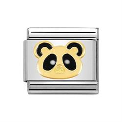 Classic Gold Animals of Earth Panda Head Charm
