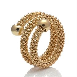 Gold Two Row Mesh Ring