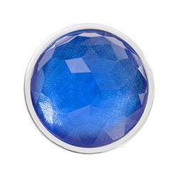 Blue Optical Glass Small Coin