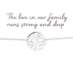 Mantra Family Tree Bracelet in Silver