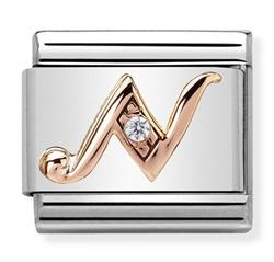 Buy Nomination Rose Gold CZ Letter N
