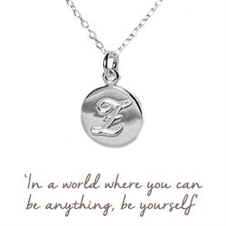 E Mantra Initial Necklace