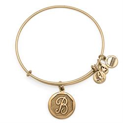 B Initial Bangle in Rafaelian Gold