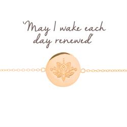 Renewal Lotus Disc Bracelet in Rose Gold