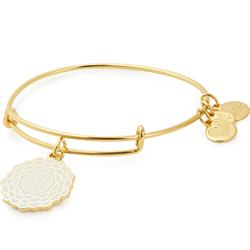 Crown Chakra Bangle in Shiny Gold