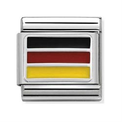 Silver Germany Flag