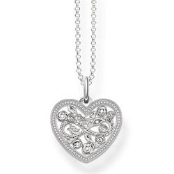 Rose Heart Silver Necklace